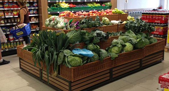 Kosze wiklinowe na warzywa